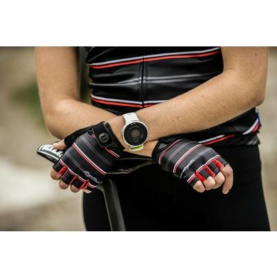 Damen Handschuhe  Fahrrad Rogelli STRIPE, schwarz-weiß-rot 010.619, Rogelli