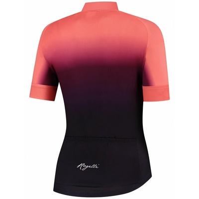 Damen premium Trikot Rogelli DREAM mit kurz Ärmeln, burgunder-koralle 010.093, Rogelli