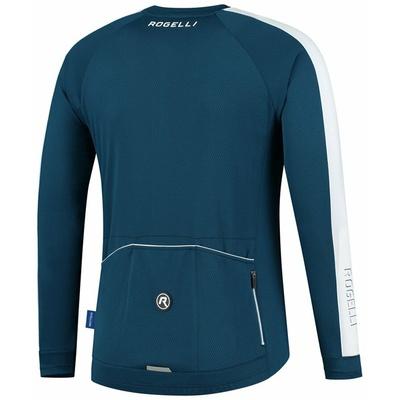 Männer fahrradtrikot ohne Isolierung Rogelli Entdecken Blau Weiss ROG351001, Rogelli