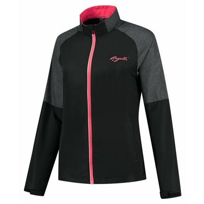Laufen der Frauen Windjacke Rogelli Genießen schwarz-grau-rosa ROG351112, Rogelli