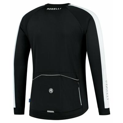 Männer fahrradtrikot ohne Isolierung Rogelli Entdecken schwarz und weiß ROG351000, Rogelli