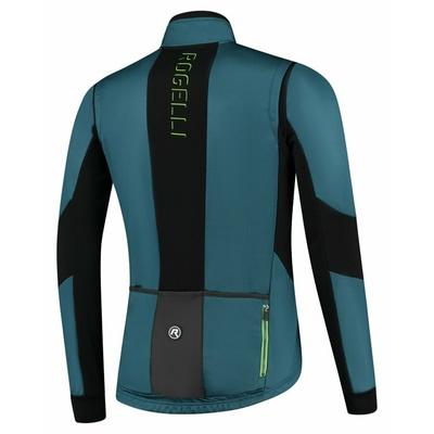 Männer Soft Shell radfahren Jacke Rogelli Mutig mit atmungsaktiv platten, blau-schwarz-grün ROG351026, Rogelli