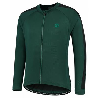Männer Radfahren jersey ohne Isolierung Rogelli Entdecken Grün Schwarz ROG351003, Rogelli