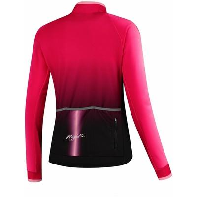 Radsport für Frauen jersey Rogelli Glühen langarm Pink Schwarz GLÜHEN, Rogelli