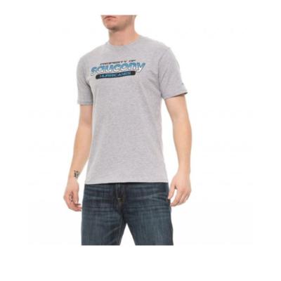 Herren T-Shirt Saucony Herren Ra Graphic Tee / Heather Grau