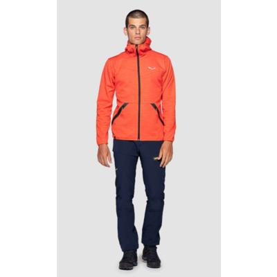 Herren-Sweatshirt Salewa Nuvolao Alpenwolle rot orange 28051-4151, Salewa