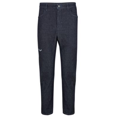 Herrenhosen Salewa Pez Alpenwolle blau Jeans 28116-8600