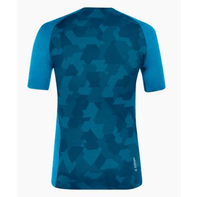 Thermohemd für Männer Salewa Kristall warm merino reaktionsschnell Cloisonne blau 28205-8660, Salewa