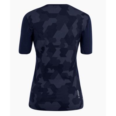 Damen Thermo T-Shirt Salewa Kristallwarmes Merino reaktionsfreudig marineblauer Blazer 28208-3960, Salewa