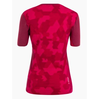 Damen Thermo T-Shirt Salewa Kristallwarmes Merino reaktionsfreudig Rhodorot 28208-6360, Salewa