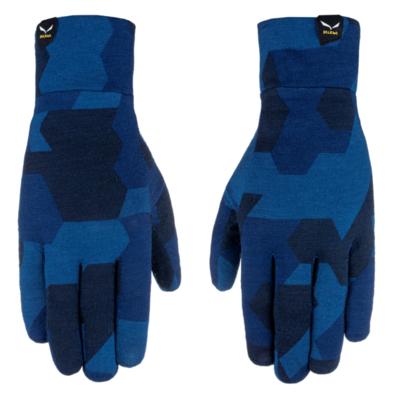 Handschuhe Salewa Kristall Liner handschuhe Marine tarnen 28214-3938