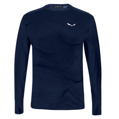 Herren-Thermo t-shirt Salewa Seceda Trocken langarm tee marineblauer Blazer 28243-3960