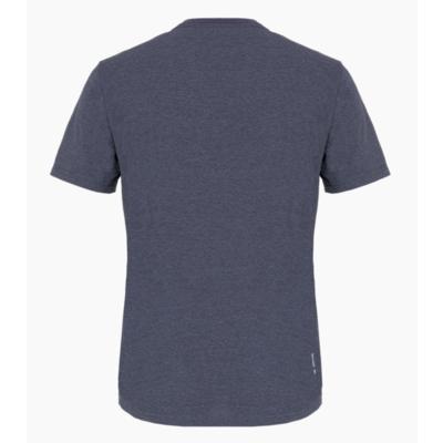 Herren T-Shirt Salewa Gedruckt Box Trocken Prämie Marine melange 28259-3986