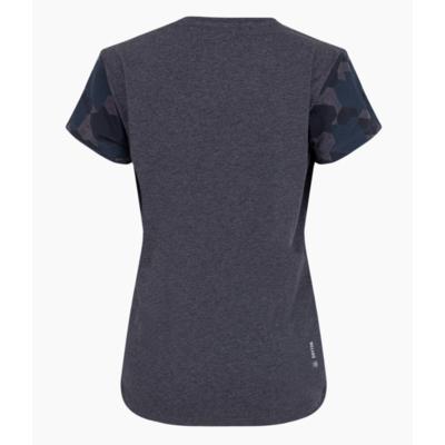Damen-T-Shirt Salewa Camou Ärmel trocken Prämie Marine melange 28260-3986