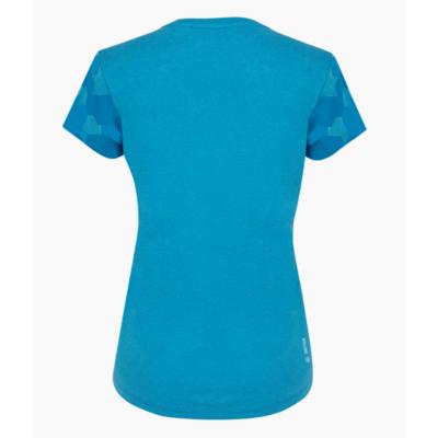 Damen-T-Shirt Salewa Camou Ärmel Trocken blau Donau melange 28260-8989