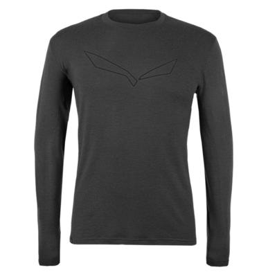 Herren T-Shirt Salewa Rein logo merino reaktionsschnell lange Ärmel T-Stück verdunkeln 28262-0910