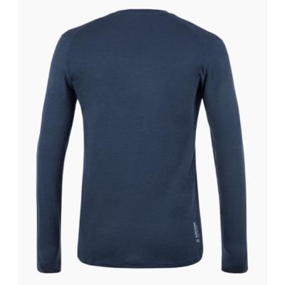 Herren T-Shirt Salewa Rein logo merino reaktionsschnell lange Ärmel T-Stück marineblauer Blazer 28262-3960