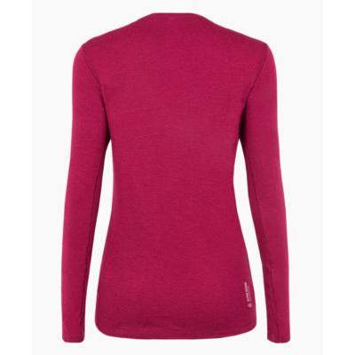 Damen-T-Shirt Salewa Rein logo merino reaktionsschnell lange Ärmel T-Stück Rhodorot 28263-6360