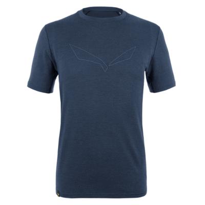 Herren T-Shirt Salewa Rein logo merino reaktionsschnell marineblauer Blazer 28264-3960