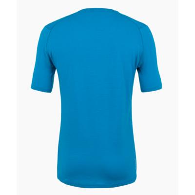 Herren T-Shirt Salewa Rein logo merino reaktionsschnell Cloisonneblau 28264-8660
