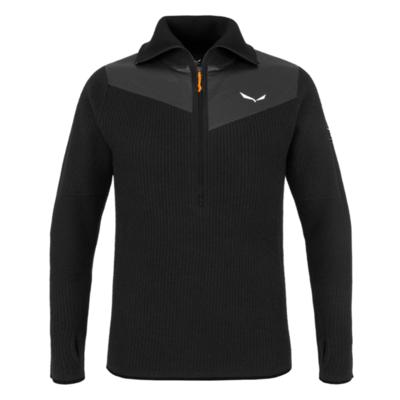 Herren-Sweatshirt Salewa Sella Merino schwarz aus 28271-0910