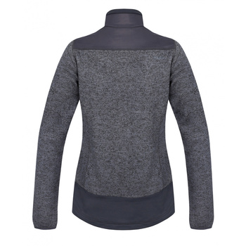 Damen Fleece Sweatshirt gezippt Husky Alan L. dunkelgrau, Husky