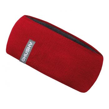 Merinowolle für Frauen Stirnband Merband 2 rot, Husky