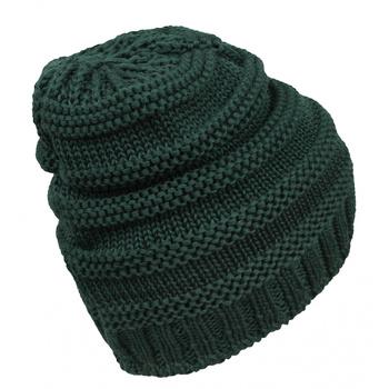 Merinowolle für Frauen kappe Husky Merhat 5 tm. grün, Husky