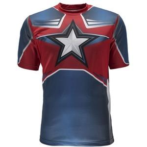 T-Shirt Spyder Men's Marvel S/S Tech Tee Captain America 179208-402, Spyder