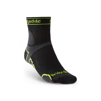 Socken Bridgedale TRAIL RUN LW T2 MS 3/4 CREW Black/845, bridgedale