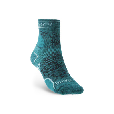 Socken Bridgedale TRAIL RUN UL T2 MS 3/4 CREW DAMEN Teal/259, bridgedale