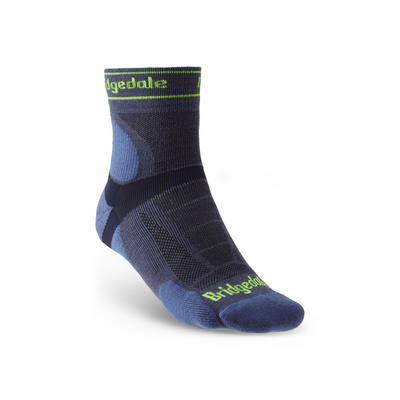 Socken Bridgedale TRAIL RUN UL T2 MS 3/4 CREW Blue/436, bridgedale