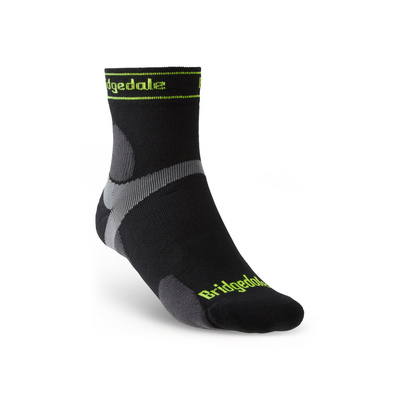 Socken Bridgedale TRAIL RUN UL T2 MS 3/4 CREW Black/845, bridgedale