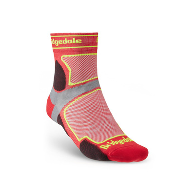 Socken Bridgedale TRAIL RUN UL T2 CS 3/4 CREW Red/325, bridgedale