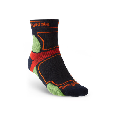 Socken Bridgedale TRAIL RUN UL T2 CS 3/4 CREW Navy/445, bridgedale
