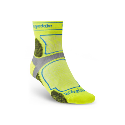 Socken Bridgedale TRAIL RUN UL T2 CS 3/4 CREW Yellow/550, bridgedale