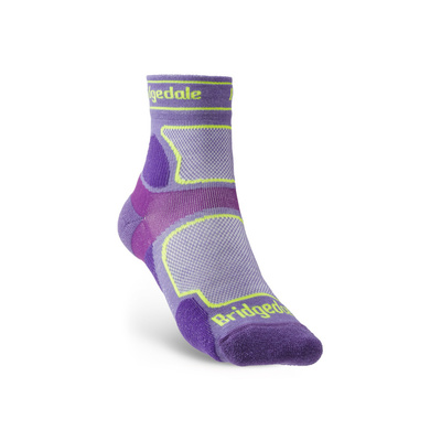 Socken Bridgedale TRAIL RUN UL T2 CS 3/4 CREW DAMEN Purple/371, bridgedale