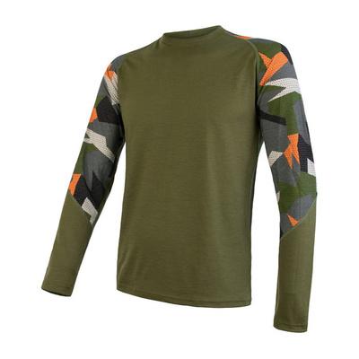 Herren T-Shirt Sensor Merino Beeindrucken safari / camo 19200021, Sensor