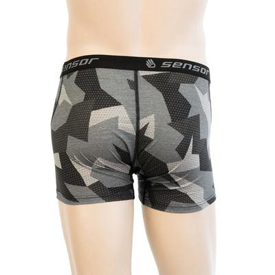 Herren shorts Sensor MERINO Beeindrucken schwarz / camo 19200022, Sensor
