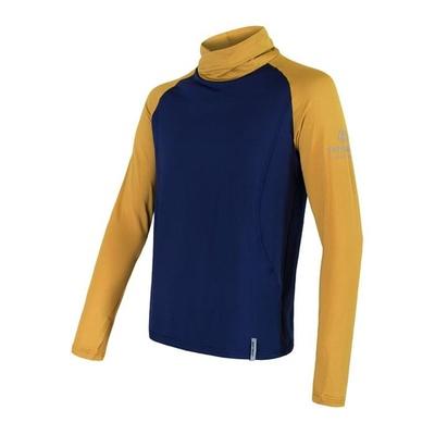 Herren Sweatshirt Sensor Coolmax Thermo dunkelblau / senf 20200050, Sensor