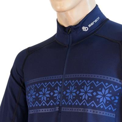 Herren T-Shirt Sensor Coolmax Thermo d.blue 20200047, Sensor