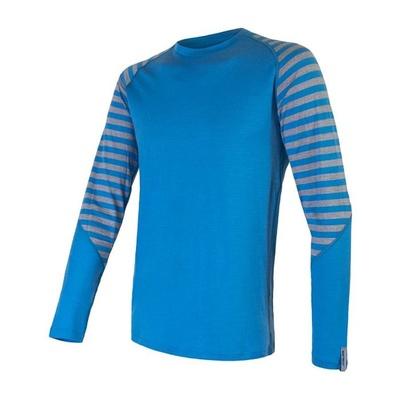 Herren T-Shirt Sensor Merino Active blau/grau 20200003, Sensor
