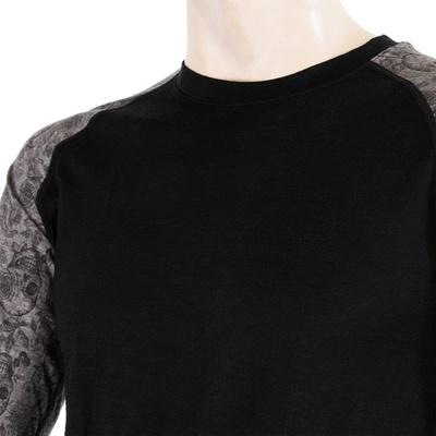 Herren T-Shirt Sensor Merino Beeindrucken schwarz / schädel, Sensor