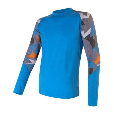 Herren T-Shirt Sensor Merino Beeindrucken blau / camo, Sensor