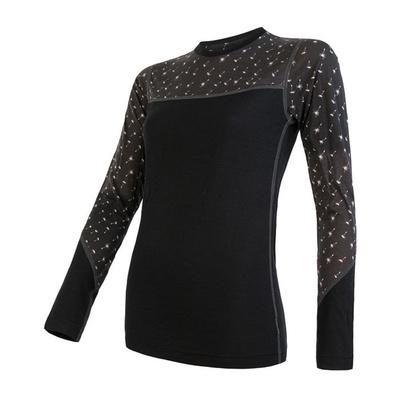 Damen T-Shirt Sensor Merino Beeindrucken schwarz / muster 19200025, Sensor