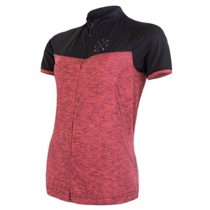 Damen Dress Sensor Cyklo Motion Kurzarm Fullzip pink / schwarz 20100059