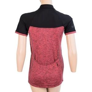 Damen Dress Sensor Cyklo Motion Kurzarm Fullzip pink / schwarz 20100059, Sensor