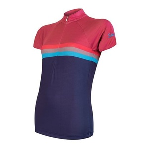 Damen Radsport Dress Sensor SUMMER STRIPE blau lila 20100062, Sensor