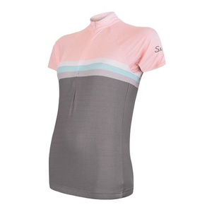 Damen Radsport Dress Sensor SUMMER STRIPE grau/rosa 20100063, Sensor
