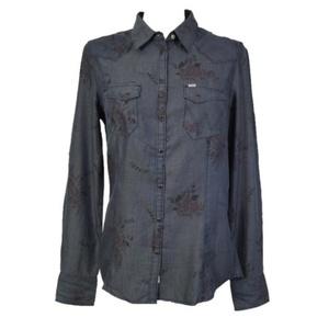 Hemden Wrangler Sammy westlich Dress blue, Wrangler
